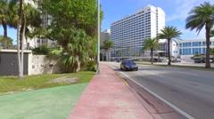 Castle Club Miami Beach Stock Footage