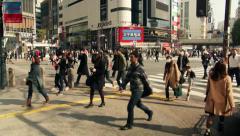 Hachiko Exit Tokyo timelapse - stock footage