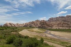 Quebrada de las Flechas in Northwest Argentina - stock photo