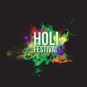 Traditional indian holiday. Colorful Holi festival background - stock illustration