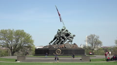 Washington DC United States Marine Corps War Memorial capital HD Stock Footage