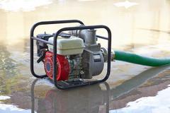 Water Pumping Machine - stock photo