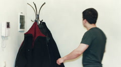 Man Getting Dress Stock Footage