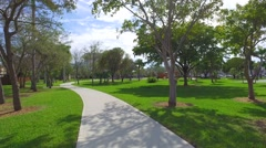 Hallandale Florida park and playground Stock Footage