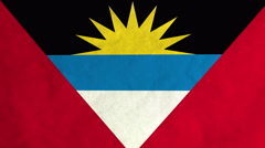 Antiguan flag waving in the wind (full frame footage) - stock footage