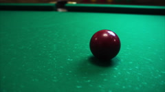 180 degrees near the billiard ball Stock Footage