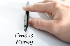 Time is money text concept - stock photo