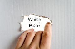 Which mba text concept - stock photo