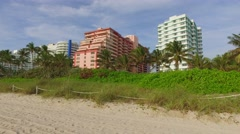 Miami Beach oceanfront condos Stock Footage