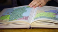 World Atlas & Map Library Stock Footage