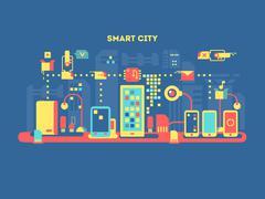 Smart city concept - stock illustration