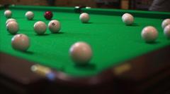 Unsuccessful Attempt in Billiards - stock footage