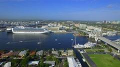 Fort Lauderdale aerial video Stock Footage
