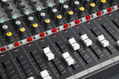 Audio Mixer Board - stock photo