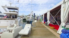 The Miami International Boat Show 4 Stock Footage