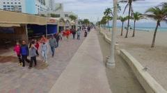 Hollywood Beach boardwalk - stock footage