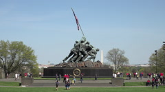 Washington DC United States Marine Corps War Memorial Iwo Jima HD Stock Footage