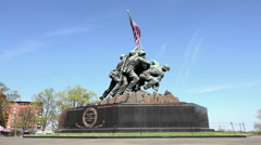 Washington DC United States Marine Corps War Memorial statue HD Stock Footage
