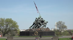 Washington DC United States Marine Corps War Memorial zoom HD Stock Footage