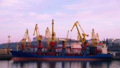 Sea Trading Port Activity. - stock footage