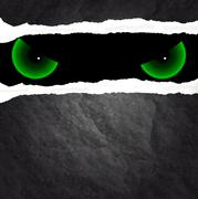 The evil eye from the wall Stock Illustration