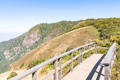 Kew mae pan nature trail at Doi Inthanon national park ,Chiangmai Thailand Stock Photos