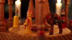 Wooden Christmas Nativity scene Stock Footage