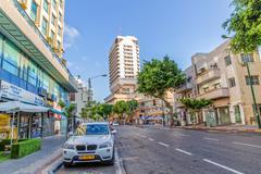 Ben Yehuda street Tel Aviv - stock photo