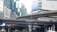 Bangkok city traffic - Time Lapse Stock Footage