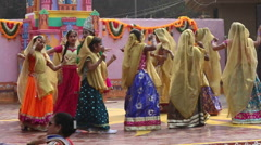 Little child artists are performing  dance on the stage in Surajkund Stock Footage