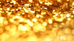 Abstract gold background with copy space - stock footage
