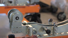 Metal products on the factory Technological production line. Stock Footage