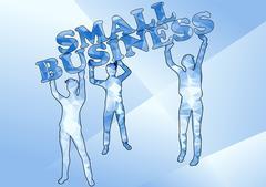 small business - stock illustration