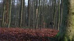 Walking man throwing hands in air Stock Footage
