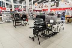 Khimki, Russia - February 13. 2016. Interior Eldorado is a large chain stores - stock photo