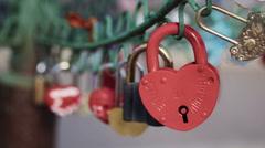 Locks couples on design Stock Footage