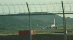 Nok Air Boeing 737 taxiing Stock Footage