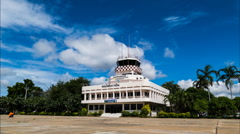 Air traffic control tower. Stock Footage