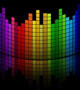 Music volume equalizer Stock Illustration