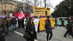 Protest Demonstration against 52nd MSC SiKo Nato Security Conference in Munich Stock Footage