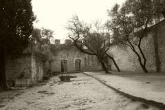 San jorge castle in lisbon Stock Photos