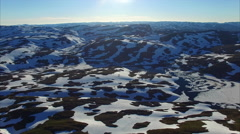 Aerial view of landscape in Norway Stock Footage