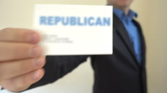 Republican Present Business Card Stock Footage