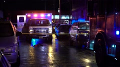 ambulance In Crime Scene - stock footage
