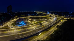 Express highway in Thailand. Stock Footage