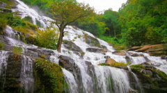 Mae Ya waterfall on mount Doi Inthanon in Chiang Mai, northern Thailand - stock footage