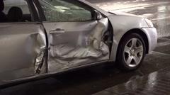 Damaged Car Stock Footage