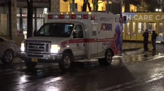 Ambulance In The City At Night - stock footage