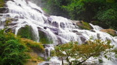 Stock Video Footage of Beautiful cascades of big waterfall