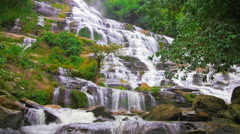 Mae Ya falls in Chiang Mai Thailand with sound of waterfall Stock Footage